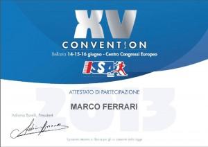 Attestato Convention Bellaria Fitness e Scienza