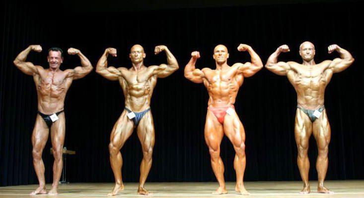 preparazione per una gara di bodybuilding