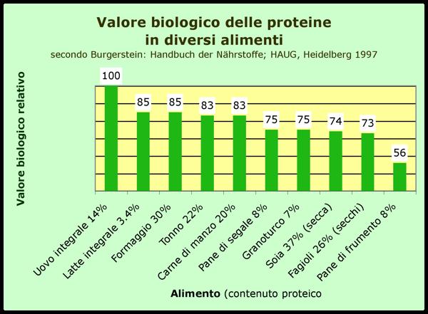 Valore Biologico Proteine Alimentari